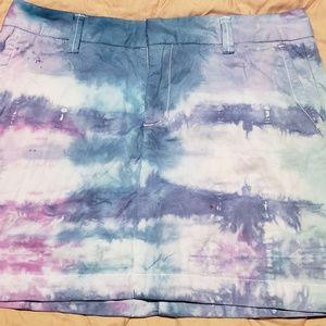 Tye Dyed Mini Skirt The Gap size 2
